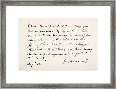 James Madison, 1751 - 1836. Fourth Framed Print by Vintage Design Pics