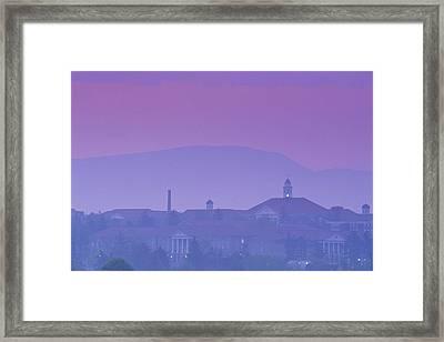 James Madison University At Dusk Framed Print by Kenneth Garrett