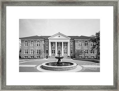 James Madison University Carrier Library Framed Print by University Icons