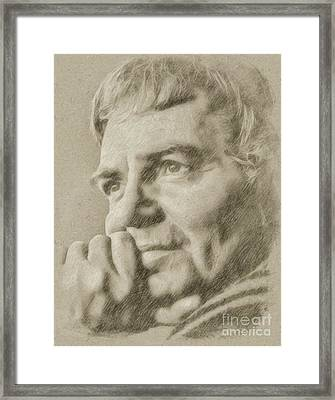 James Mason Hollywood Actor Framed Print by Frank Falcon