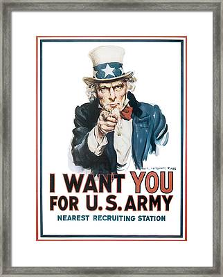 I Want You For U.s. Army Framed Print