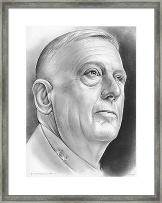 James Norman Mattis Framed Print by Greg Joens