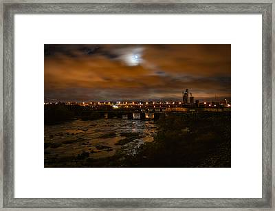 James River At Night Framed Print