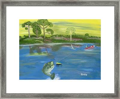 James River Bass Framed Print by Edwin Long