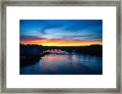 James River Sunset Framed Print