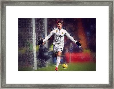 James Rodrigez Framed Print by Semih Yurdabak