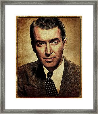 James Stewart Hollywood Actor Framed Print by Esoterica Art Agency