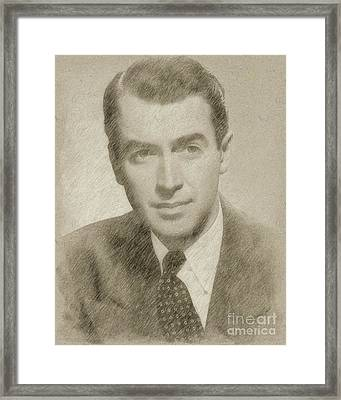 James Stewart Hollywood Actor Framed Print by Frank Falcon