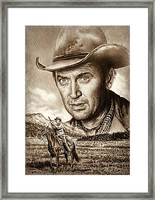 James Stewart The Far Country Framed Print