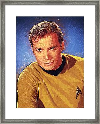 James T. Kirk Framed Print by Taylan Apukovska