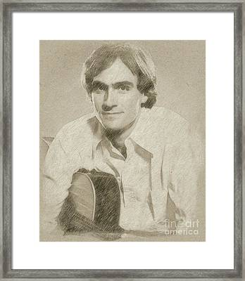 James Taylor Musician Framed Print by Frank Falcon