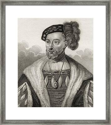 James V King Of Scotland 1512 - 1542 Framed Print