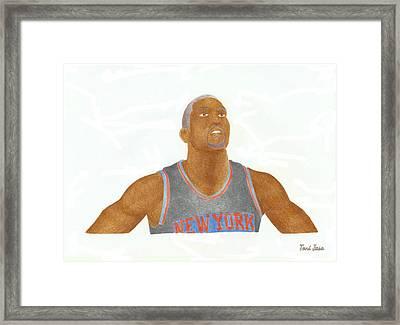 James White Framed Print by Toni Jaso