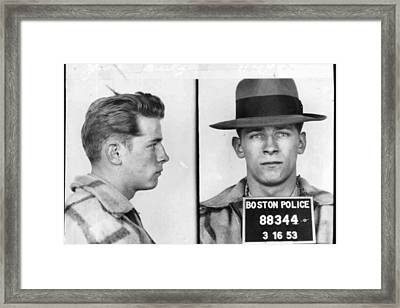 James Whitey Bulger Mug Shot 1953 Horizontal Framed Print