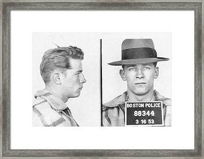James Whitey Bulger Mug Shot Framed Print