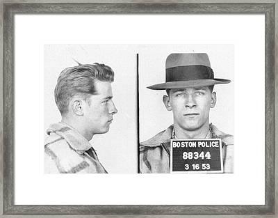 James Whitey Bulger Mug Shot Framed Print