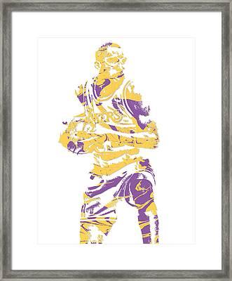 James Worthy Los Angeles Lakers Pixel Art 5 Framed Print