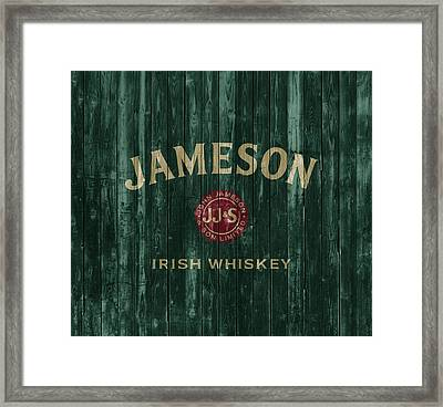 Jameson Irish Whiskey Barn Door Framed Print