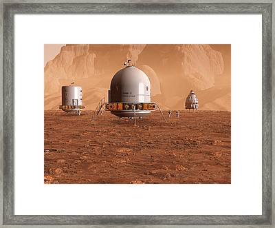 Framed Print featuring the digital art Jamestown 1 by David Robinson