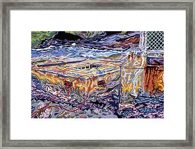Jamestown Sea Construction Site Framed Print by Robert SORENSEN