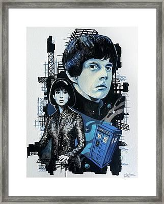 Jamie And Zoe Framed Print by Tom Carlton