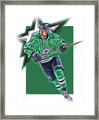 Jamie Benn Dallas Stars Oil Art Series 1 Framed Print