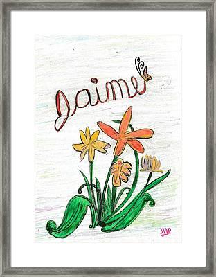 Jamie  Framed Print by Heather Parsons