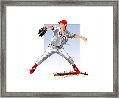 Jamie Moyer Framed Print by Scott Weigner