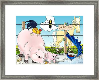 Framed Print featuring the painting Jamie's Farm by Lynn Rider