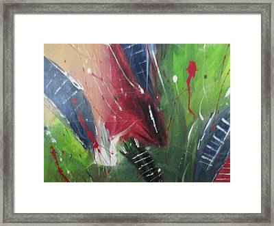 Framed Print featuring the pastel Jammin by Sharyn Winters