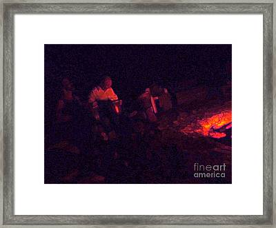 Jamming By The Fire Framed Print by JoAnn SkyWatcher
