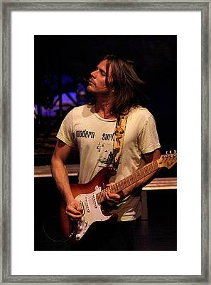 Framed Print featuring the photograph Jamming Lukas by Ben Upham