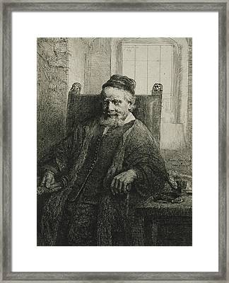 Jan Lutma, The Elder, Goldsmith And Sculptor Framed Print by Rembrandt