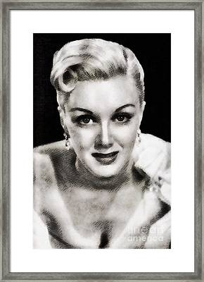 Jan Sterling, Vintage Actress By John Springfield Framed Print