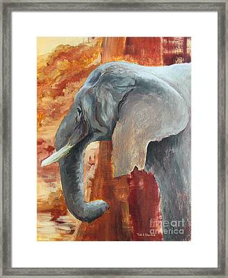 Framed Print featuring the painting Jana by Todd Blanchard
