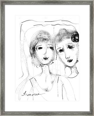 Jane And June Framed Print by Elaine Lanoue