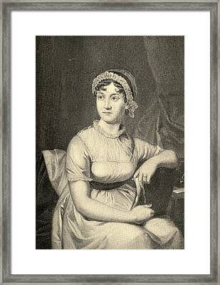 Jane Austen, 1775-1817. English Novelist Framed Print by Vintage Design Pics