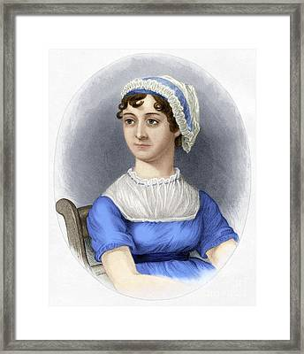 Framed Print featuring the photograph Jane Austen by Granger