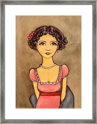 Jane Austen Framed Print by Ramey Guerra