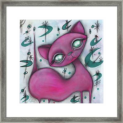 Jane Cat Framed Print by Abril Andrade Griffith