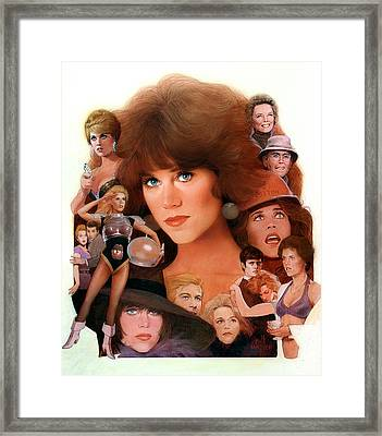 Jane Fonda Tribute Framed Print by Bill Mather