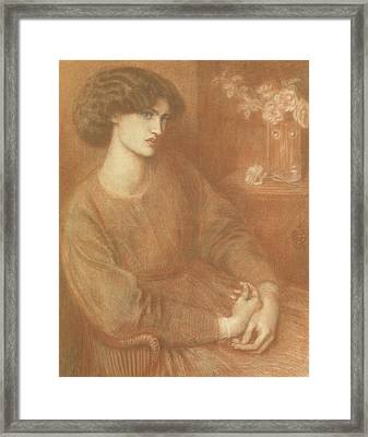 Jane Morris Framed Print by Dante Gabriel Charles Rossetti