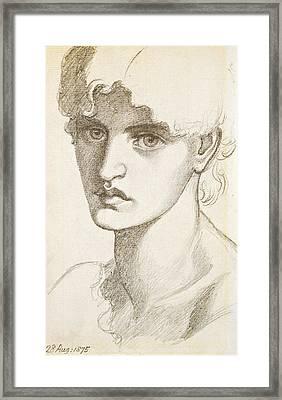 Jane Morris Framed Print by Dante Gabriel Rossetti