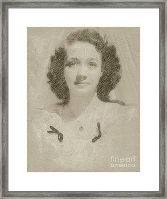 Jane Powell Vintage Hollywood Actress Framed Print