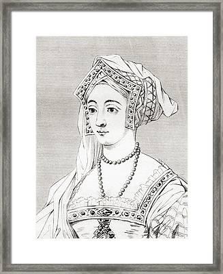 Jane Seymour, 1508 Framed Print