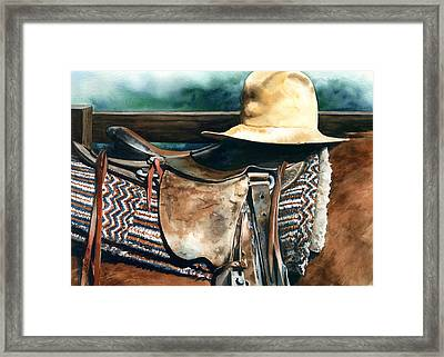 Janessa's Hat Framed Print by Nadi Spencer