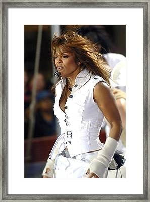 Janet Jackson On Stage For Janet Framed Print by Everett