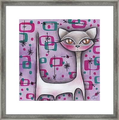 Janice Cat Framed Print by Abril Andrade Griffith