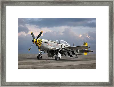 Janie P-51 Framed Print by Gill Billington