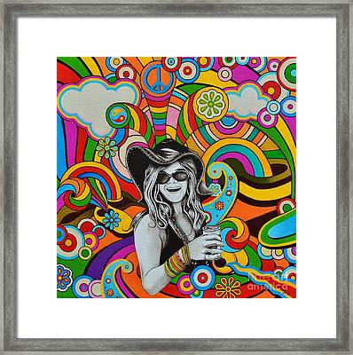 Framed Print featuring the painting Janis In Wonderland by Joseph Sonday